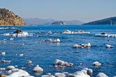 Island in winter sea 2 — Stock Photo