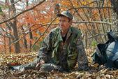 Ranger in autumn forest 6 — Stock Photo