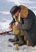冬の釣り — ストック写真