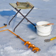 Stock Photo: Fishing on ice