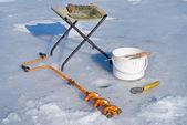 Fishing on ice — Stock Photo