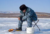 Winter Fishing — Stockfoto