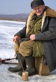 Pesca del invierno — Foto de Stock