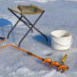 Stock Photo: Fishing on ice (equipment)