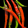 Red peppers (chili) - Stock Photo