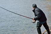 Hombre de la pesca — Foto de Stock