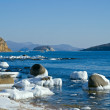 Stock Photo: Island in winter sea