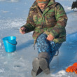 Man on winter fishing — Stock Photo #15759623