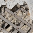 Stock Photo: Old wall with lath