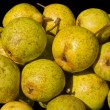 Stock Photo: Heap of yellow pears.