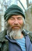 Old Mongoloid Man — Stock Photo