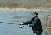 Man on fishing — Stock Photo