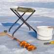 Fishing on ice (equipment) — Stock Photo