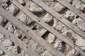 Old wall with lath — Stock Photo
