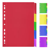 Colorful Folders with Bookmarks — Stock Vector