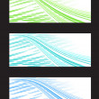 Abstract Background Banner in Three Color Combination — Stock Photo