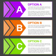 ABC Option Blocks with Short Description — Stock Photo