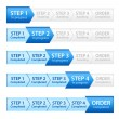 Blue Progress Bar for Order Process — Stock Photo #14330745