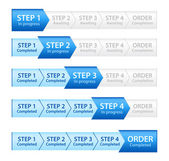 Blue Progress Bar for Order Process — Foto Stock