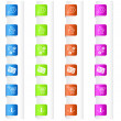 Bookmarks with System Icons in Four Colors — Stock Photo
