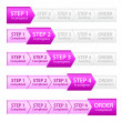 Pink Progress Bar for Order Process - Stock Photo