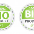 Bio Product Label in Two Versions — Stock Vector