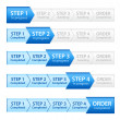 Stock Vector: Blue Progress Bar for Order Process