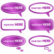 Stock Vector: Purple Speech Bubbles