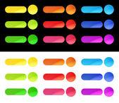 カラフルな web ボタン テンプレート — ストックベクタ