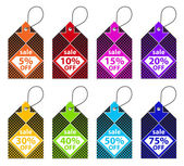 Colorful Discount Labels — Stock Vector