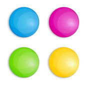 Web Buttons in Four Colors — Stock Vector