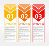 One Two Three Text Blocks — Stock Vector