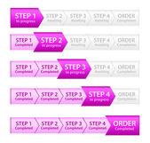 Pink Progress Bar for Order Process — Stock Vector