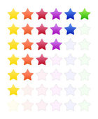 Rate Stars — Stock Vector