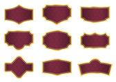 étiquettes de vigne rouge texture vintage — Vecteur