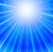 Rayo de luz en el océano — Vector de stock
