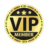 VIP Member Golden Label — Stock Vector