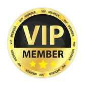 VIP Member Golden Badge — Stock Vector