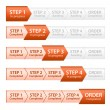 Orange Progress Bar for Order Process — Stock Vector #18462859