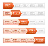 Orange Progress Bar for Order Process — Stock Vector
