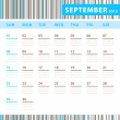 Stock Vector: Planning Calendar - September 2013