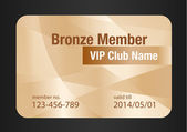 Bronze VIP Club Card — Stock Vector