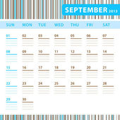 Planning Calendar - September 2013 — Stock Vector