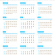 Stock Vector: Annual Calendar for 2013 Year
