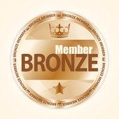 Brąz Państwa odznaka z korony królewskiej i jedną gwiazdkę — Wektor stockowy