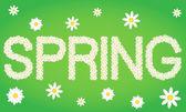 Jarní značky složený z květy sedmikrásky — Stock vektor