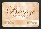 Luxury bronze member card — Stock Vector