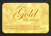 Gold member card — Stock Vector