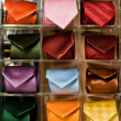 Neckties display — Stock Photo