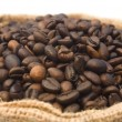 Stock Photo: Bag of coffee beans